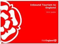 Inbound Tourism to England - VisitEngland