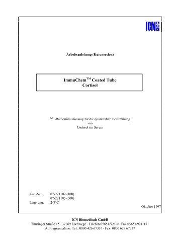 ImmuChem Coated Tube Cortisol - MP Biomedicals