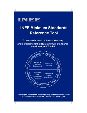 INEE - Minimum Standards Reference Tool
