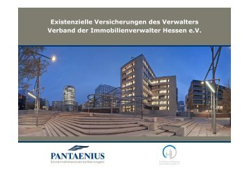 Versicherungen des Verwalters - Verband der Immobilienverwalter ...