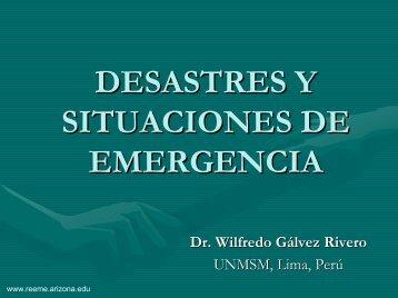 Desastres y Situaciones de Emergencia - Reeme.arizona.edu