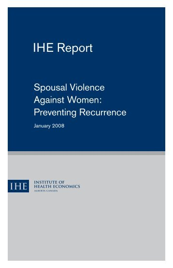 Spousal Violence Against Women - Institute of Health Economics
