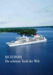 MS EUROPA Die schönste Yacht der Welt - Karawane Reisen