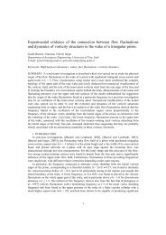 Experimental evidence of the connection between flow fluctuations ...