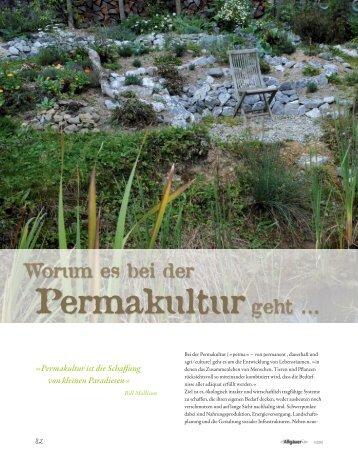 Worum es bei der Permakulturgeht - Permakultur Koller