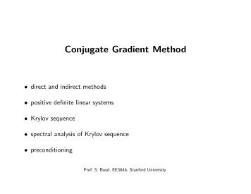 Conjugate Gradient Method - Stanford University