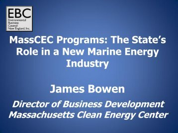 The State's Role in a New Marine Energy Industry