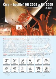 Čína – hostite¾ OH 2008 a PH 2008 Čína – hostite¾ OH ... - Sporting