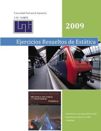 Ejercicios Resueltos de Estática - Ing. Sergio Navarro Hudiel