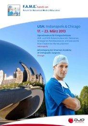 USA: Indianapolis & Chicago 17. – 23. März 2013 - DJO Global