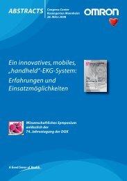 """Ein innovatives, mobiles, """"handheld""""-EKG-System: Erfahrungen und ..."""