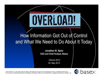 How Information Got Out of Control and What We Need ... - ABD-BVD