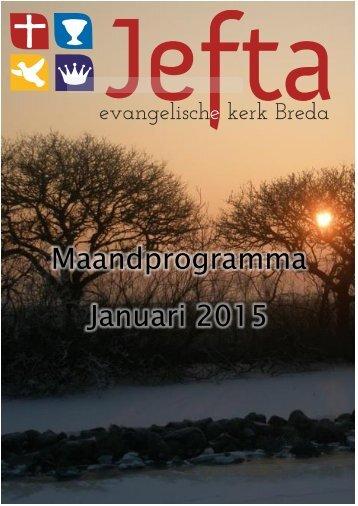 Maandprogramma Januari 2015