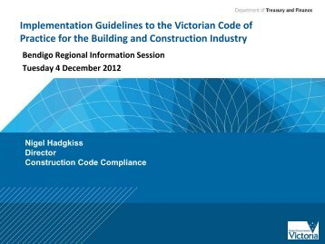 Implementation Guidelines to the Victorian Code of Practice for the ...