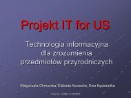 Modelowanie - Project IT for US - Ośrodek Edukacji Informatycznej i ...