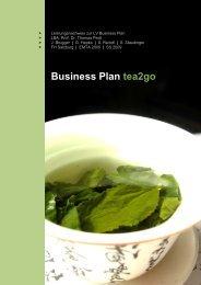 Business Plan tea2go - SHIDIWEN.COM