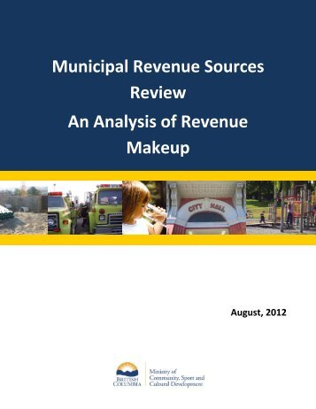 An Analysis of Revenue Makeup - Ministry of Community, Sport and ...