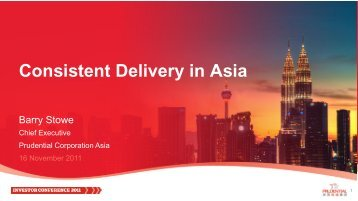 Consistent delivery in Asia