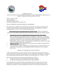 combined notice notice to public of no significant ... - City of Port Huron