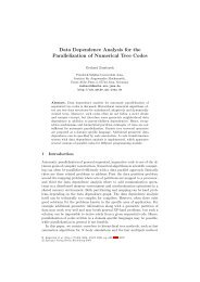 Data Dependence Analysis for the Parallelization of Numerical Tree ...