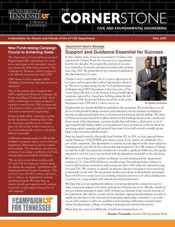 The Cornerstone - College of Engineering - The University of ...