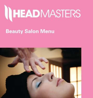 Beauty Salon Menu - Headmasters