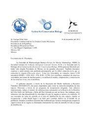 EUROPEAN CETACEAN SOCIETY Sr. Enrique Peña Nieto 18 de ...