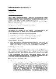 References Summary (Last update: April 2010 ... - Fujitsu info