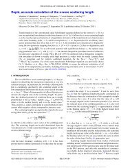 Rapid, accurate calculation of the s-wave scattering length