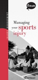ACC615 Managing your sports injury brochure