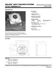 TE760 Thermostat, Specification/Application - Emerson Industrial ...