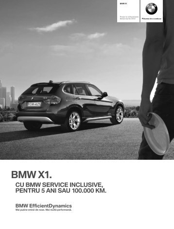 Descărcare Lista de preţuri curente pentru modelul BMW X1 ( PDF ...