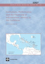 InstitutionsPerformanceandtheFinancingofInfrastructureintheCaribbean