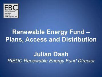 Julian Dash Renewable Energy Fund - Environmental Business ...