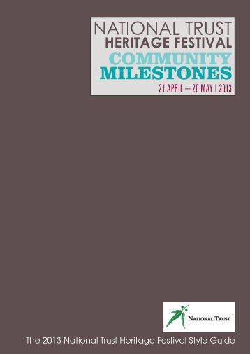 MILESTONES - National Trust of Australia