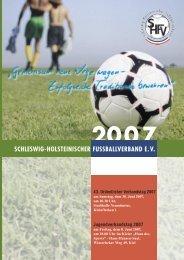 2007 - Schleswig-Holsteinischer Fussballverband eV