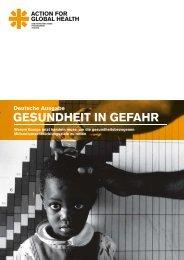 GESUNDHEIT IN GEFAHR - Action for Global Health