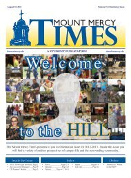 Inside the Issue: Index: Online - Mount Mercy Times