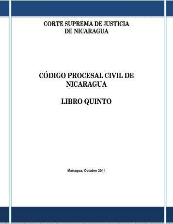 código procesal civil de nicaragua libro quinto - Poder Judicial