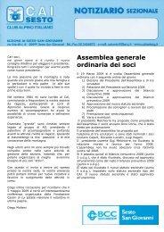 Notiziario Aprile 2009 2 - CAI - sezione di Sesto San Giovanni