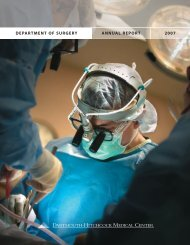 department of surgery annual report 2007 - Health Care Professionals