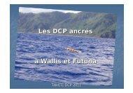 Les DCP ancrés à Wallis et Futuna - QNP2012 - Sciencesconf.org