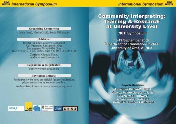 Community Interpreting: Training & Research at University ... - Zebra