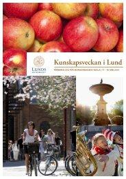 Broschyr Kunskapsveckan 2013 - Humanekologi Lunds universitet