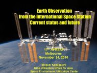 Current Earth Observation Activities from ISS - APRSAF