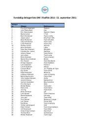 Foreløbig deltagerliste DM i Fladfisk 2011- 15 ... - Onsevighavn