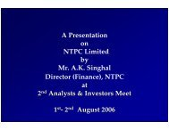 Presentation made at 2 nd Analysts & Investors Meet held in ... - Ntpc