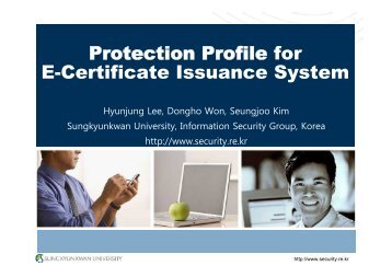 Protection Profile for E-Certificate Issuance System - TSE | www.tse ...
