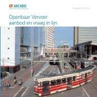 Openbaar Vervoer aanbod en vraag in lijn - Arcadis