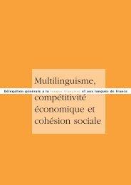 Multilinguisme, compétitivité économique et cohésion sociale